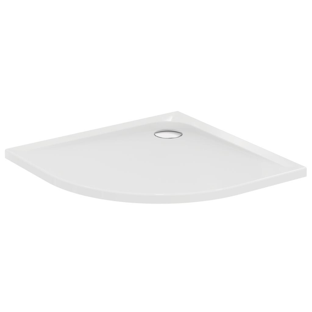 Piatto doccia in acrilico quadrato con lato curvo 90x90 cm