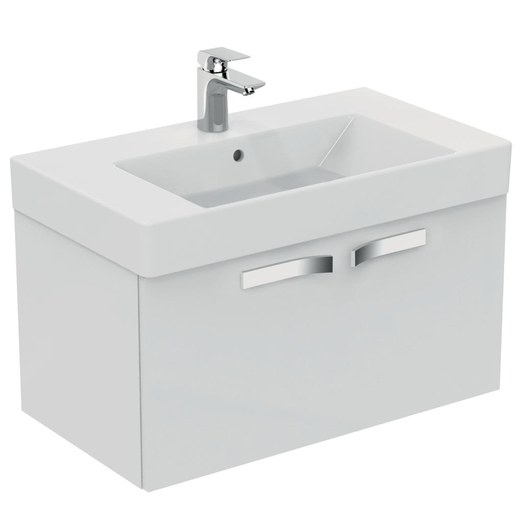 800mm Wall Mounted Basin Unit, 1 drawer