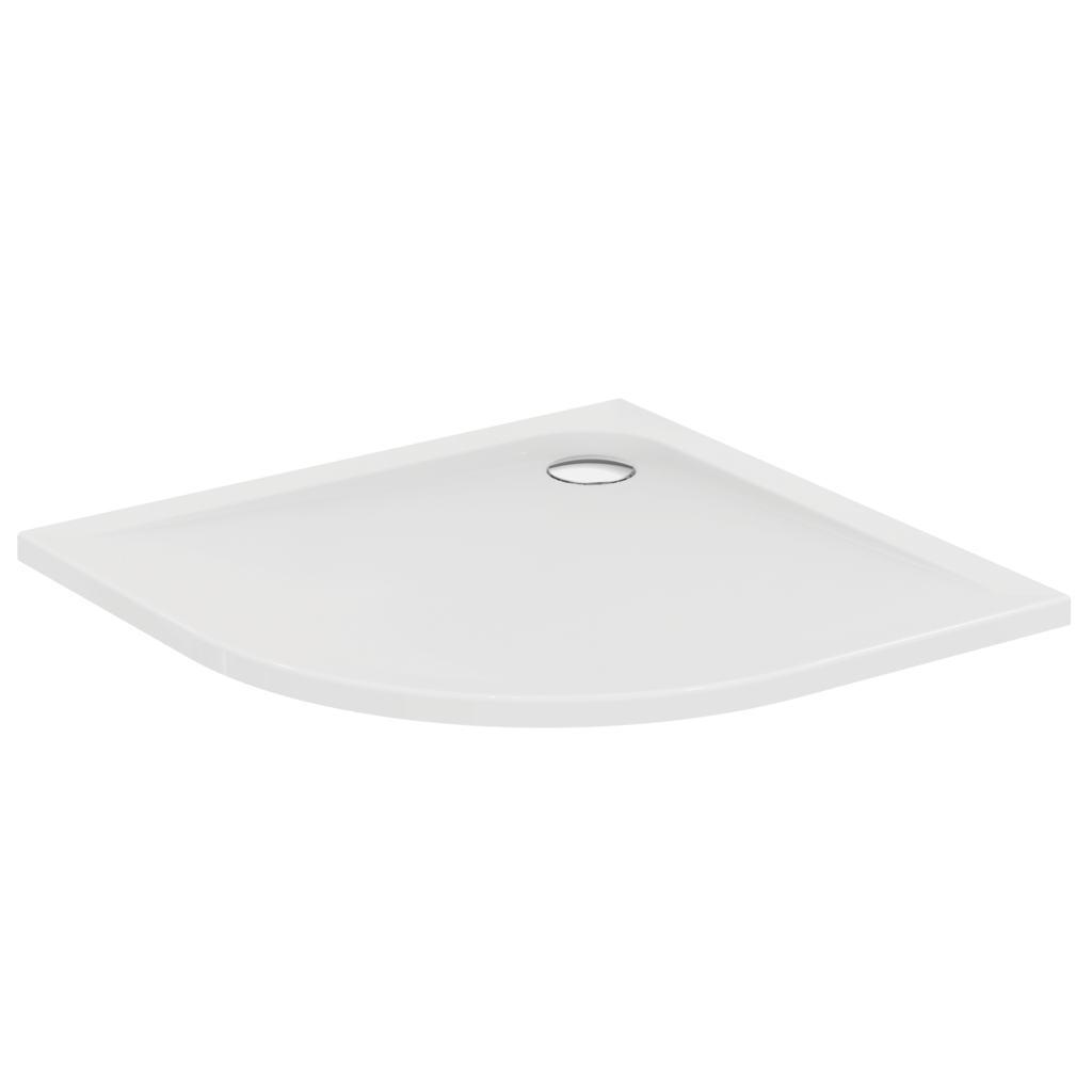 Piatto doccia in acrilico quadrato con lato curvo 100x100 cm