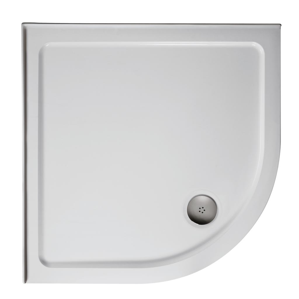800mm Quadrant Low Profile Shower Tray, Upstands