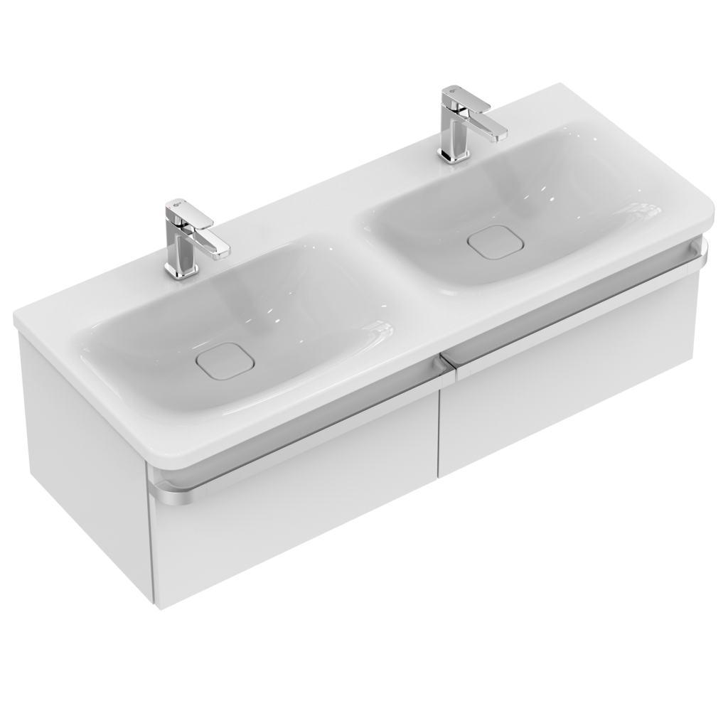 ideal standard k0870 vanity basin double 120 cm with 2. Black Bedroom Furniture Sets. Home Design Ideas