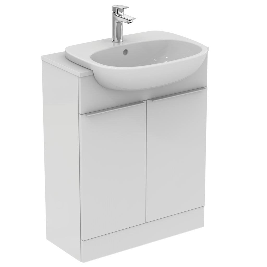 55cm semi-countertop basin - one tap hole