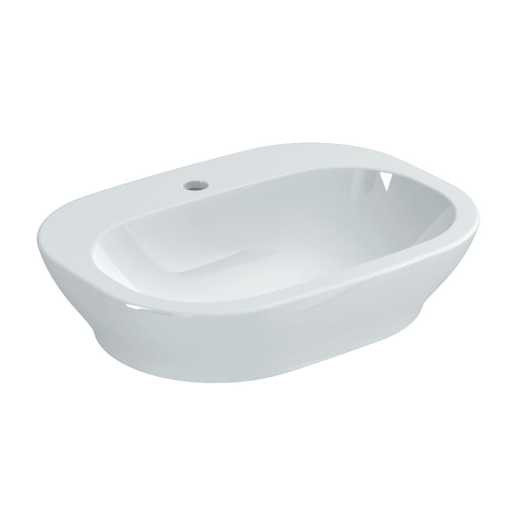 60cm Oval Vessel Washbasin, 1 taphole