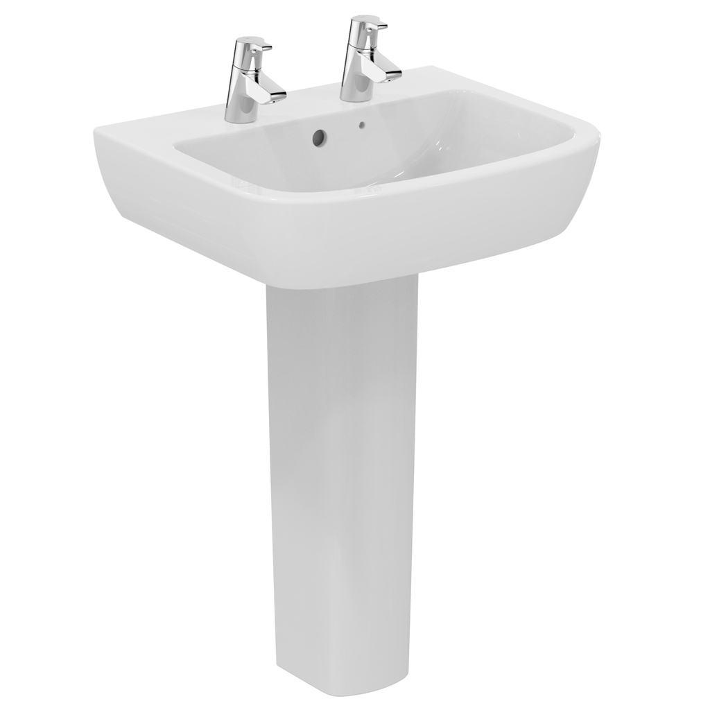 60cm Washbasin, 2 tapholes