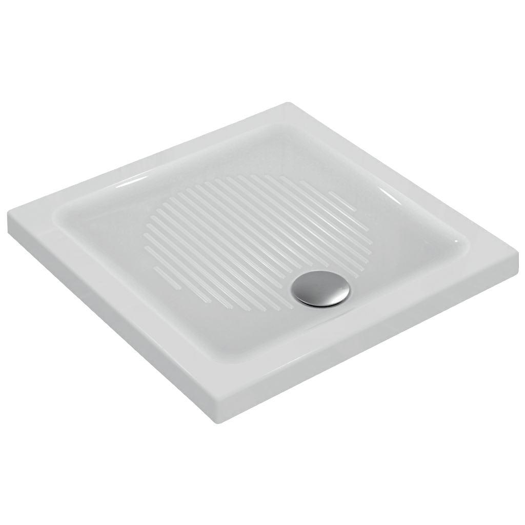 Piatto doccia in ceramica 90 x 90 x 6 cm