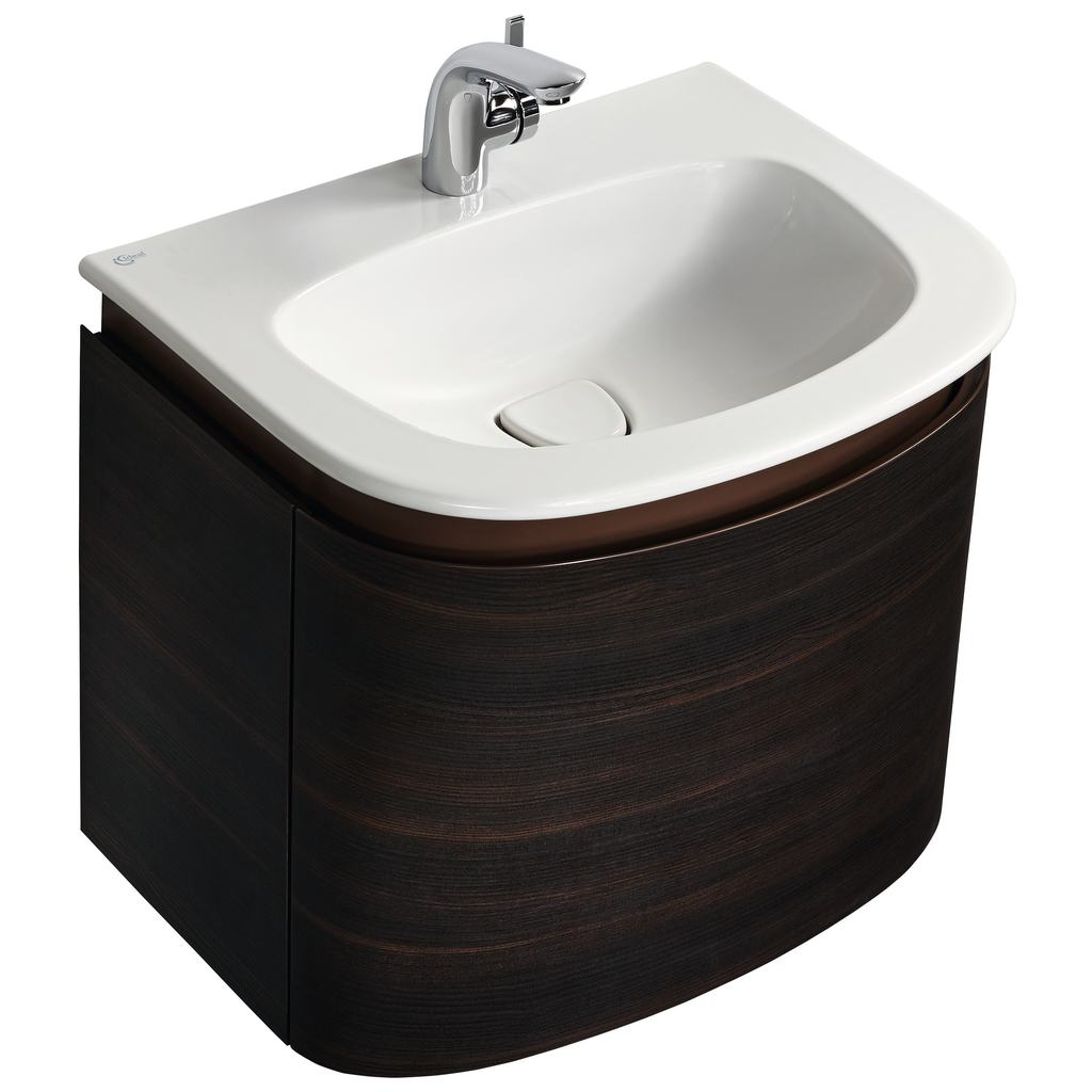 600mm Wall Mounted Basin Unit with 1 drawer