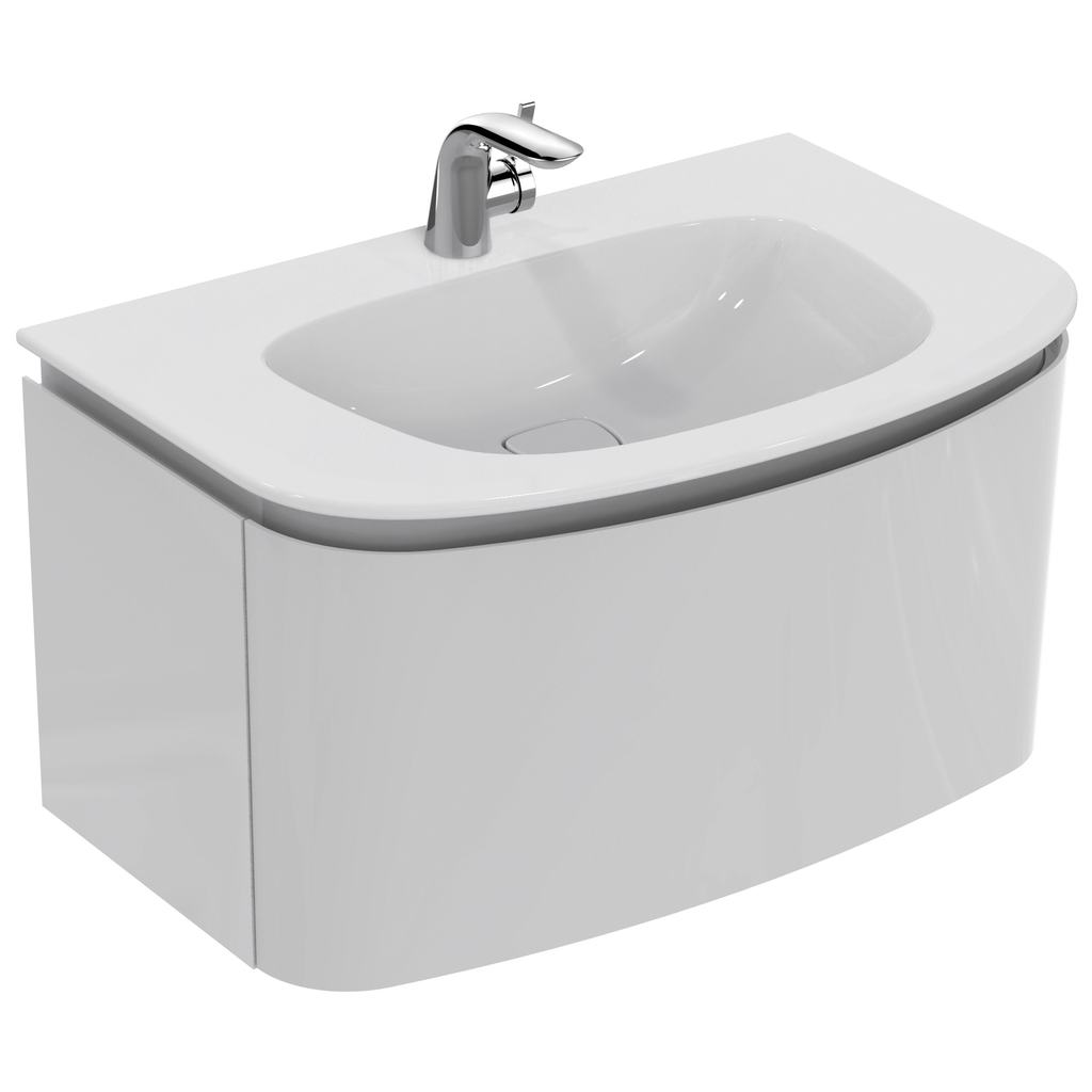 800mm Wall Mounted Basin Unit with 1 drawer