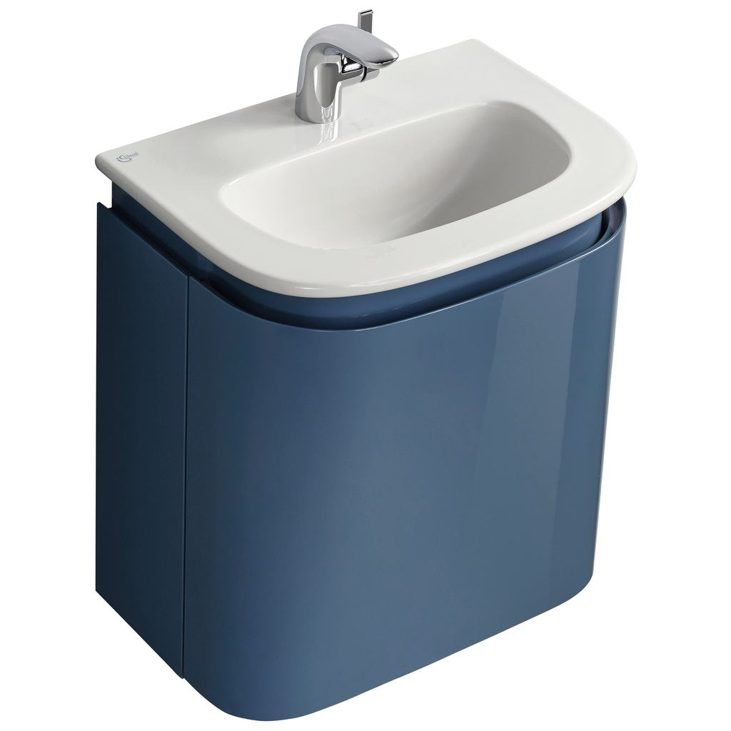 500mm Wall Mounted Handrinse Basin Unit with 1 drawer