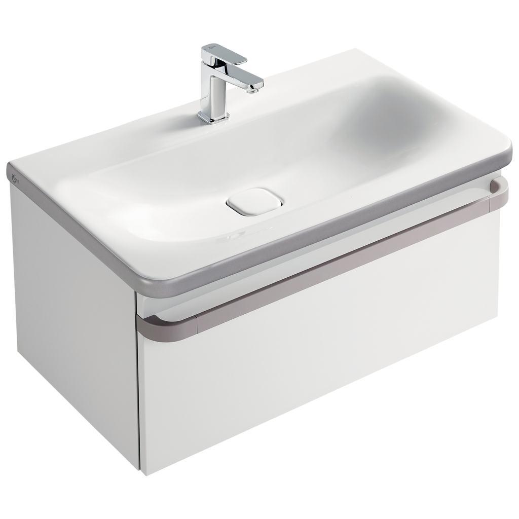 Basin unit 1 drawer 800mm gloss white