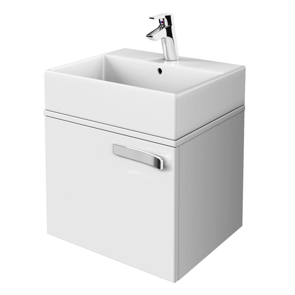 600mm Wall Mounted Basin Unit, 1 Drawer & Worktop