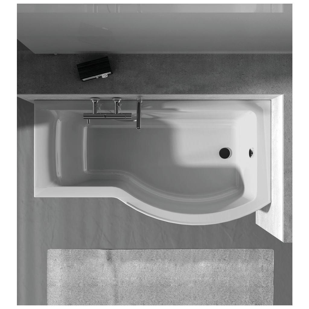 Dettagli del prodotto e1267 vasca asimmetrica pannellata ideal standard - Vasca da bagno standard ...