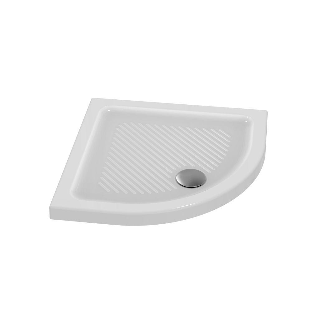 Piatto doccia in ceramica 80 x 80 x 6 cm