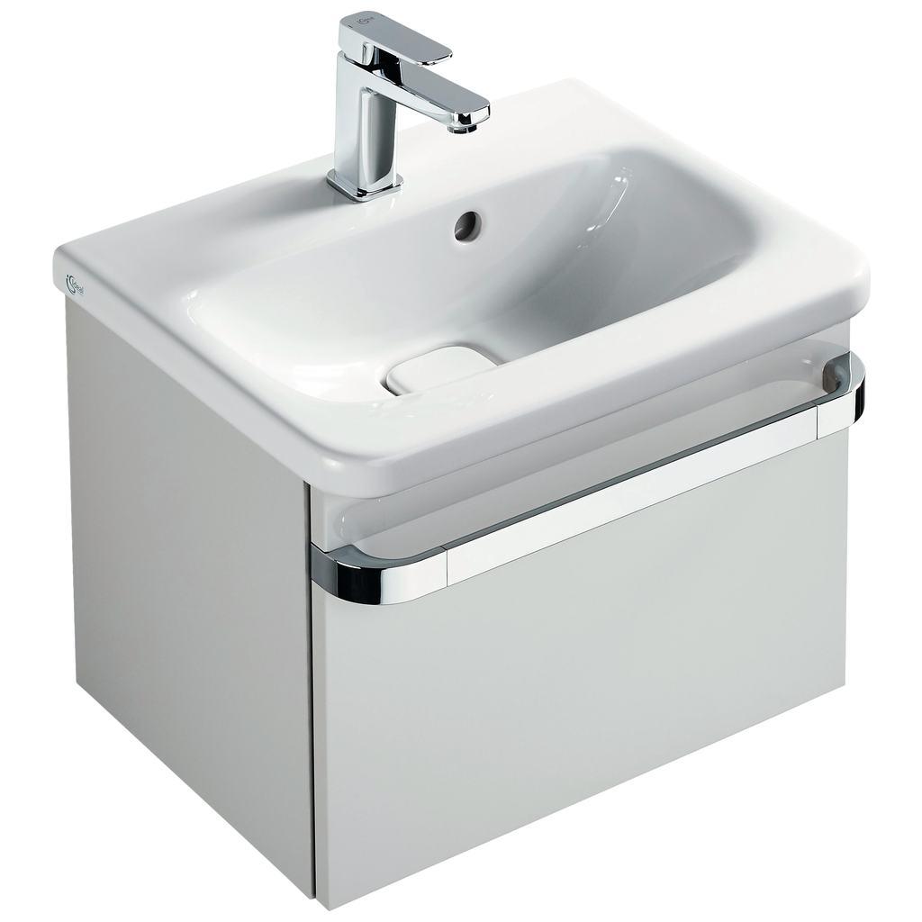 Basin unit 1 drawer 500mm gloss white