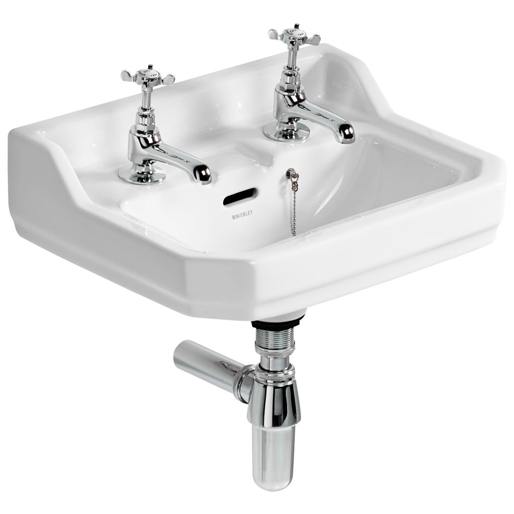 45cm Handrinse Basin with Two Tapholes