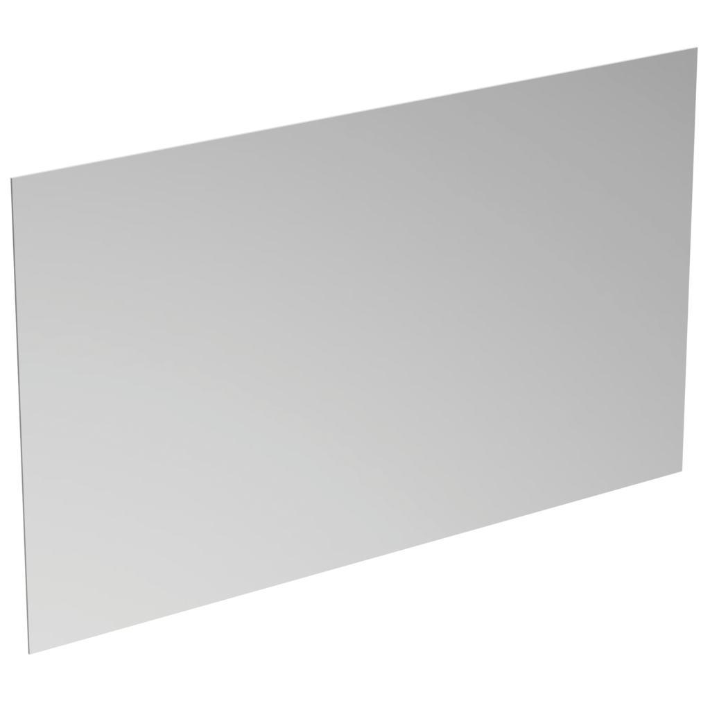 Specchio rettangolare con luce a LED perimetrale.