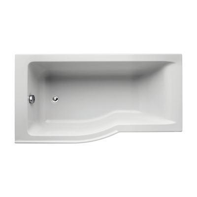 150 x 80cm Idealform Plus+ Shower Bath Left Hand with no tapholes