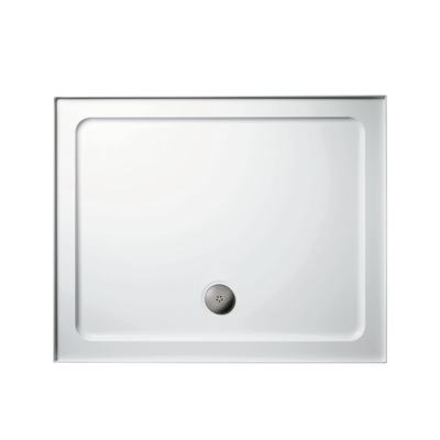 900x760mm Low Profile Shower Tray, Upstands