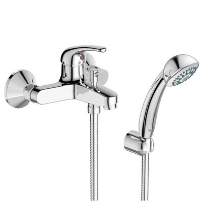 Смесител стенен за вана/душ с аксесоари Хром