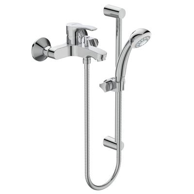 Еxposed Bath&Shower mixer with accessories Chrome