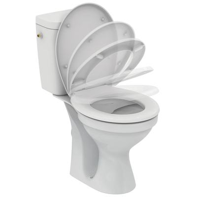 WC Combination Rimless, soft-close seat Euro White