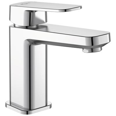 One-hole basin mixer with pop-up waste