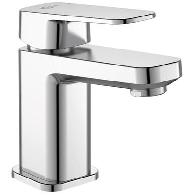 One-hole basin mixer Piccolo with pop-up waste