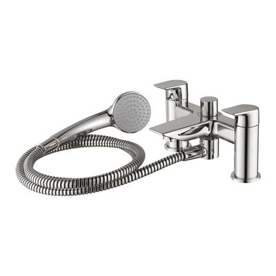 2 hole dual control bath shower mixer with shower set