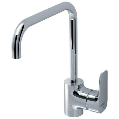 Single lever one-hole kitchen mixer