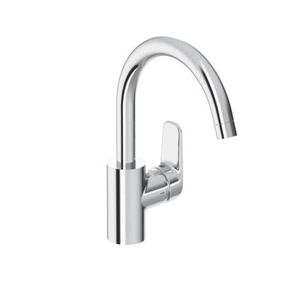 Sink mixer with high tubular spout R200