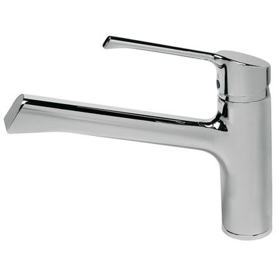 Kitchen mixer with cast spout