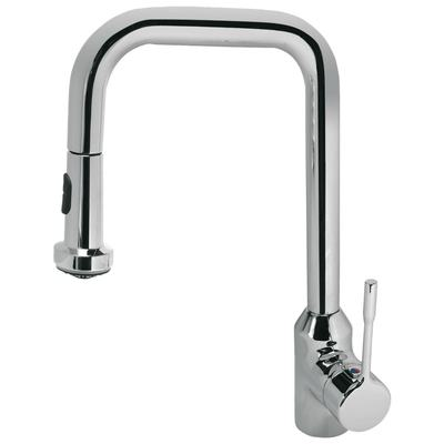 Kitchen mixer with pull-down spray