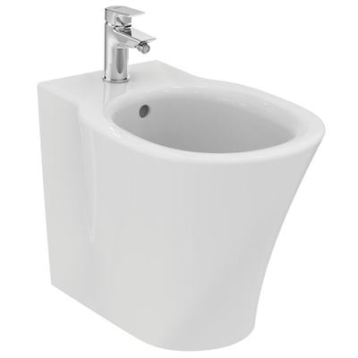Floor standing BTW bidet with fully hidden fixation