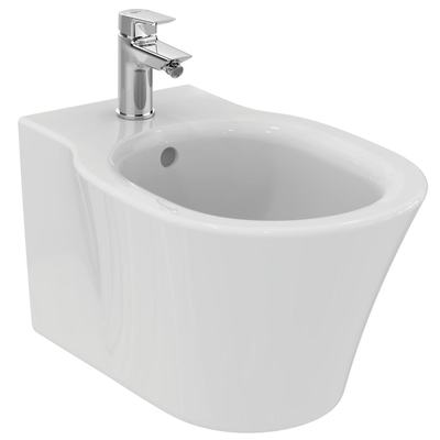 Wall mounted bidet with fully hidden fixation