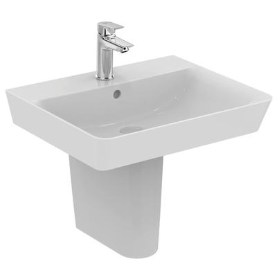 Cube 55cm pedestal basin - one taphole