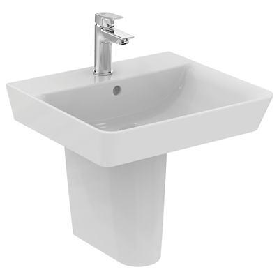 Cube 50cm pedestal basin - one taphole