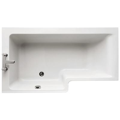 150cm Shower Bath, Left hand