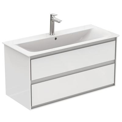 100CM Wall Hung Vanity Unit 2 drawers