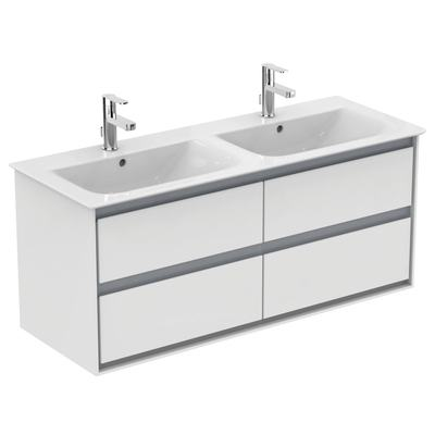 124cm Vanity double basin - one taphole