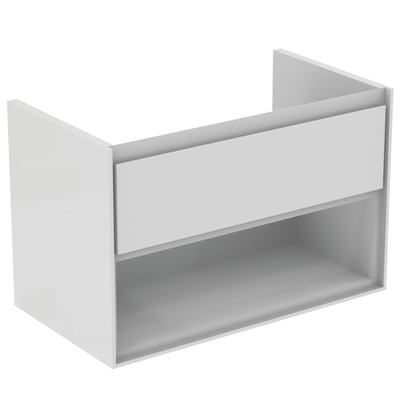 80CM Wall Hung Vanity Unit 1 drawer with open shelf