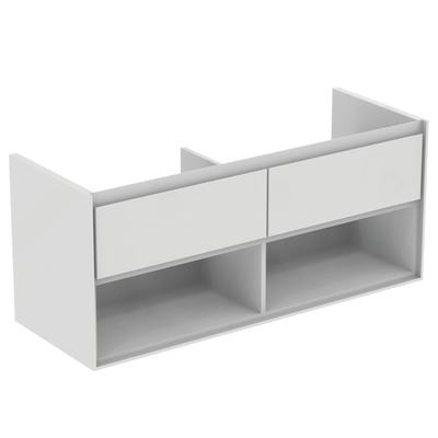 120CM Wall Hung Vanity Unit 2 drawers with open shelf