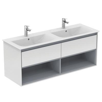 Meuble pour lavabo-plan double