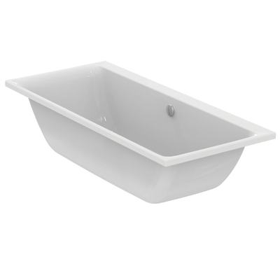 Rectangular Double-Ended Bathtub 180x80 cm for built-in installation only