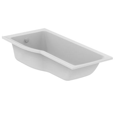 Shower bathtub 170x80 cm for built-in installation or installation with panels, Left hand version