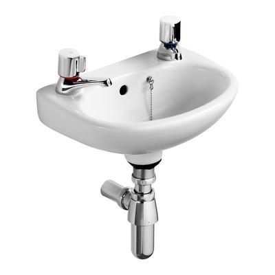 35cm Washbasin, 2 tapholes