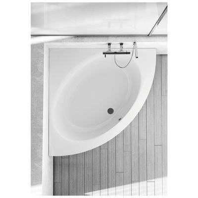 Corner bathtub 140x140 cm, complete set
