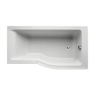 150 x 80cm Idealform Plus+ Shower Bath Right Hand with no tapholes