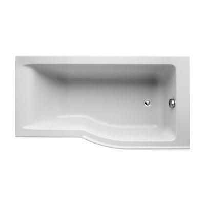150 x 80cm Idealform Plus+ Shower Bath Right Hand with no tapholes
