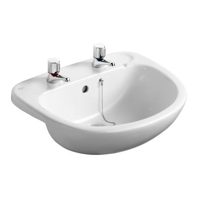 56cm Semi-Countertop Washbasin, 2 tapholes