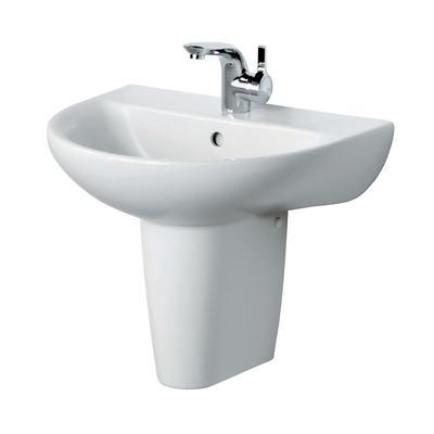 55cm Washbasin, 1 taphole