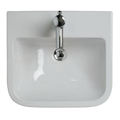 50cm Semi-Countertop Washbasin, 1 tapholes